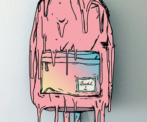 pink, art, and backpack image