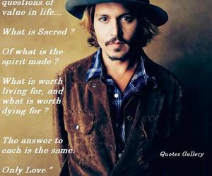 johnny depp, made, and text image
