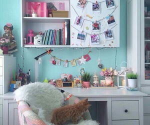 room, cat, and home image