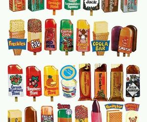 ice cream, food, and vintage image