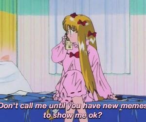 sailor moon, anime, and meme image