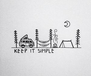 camping, simple, and moon image