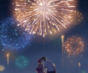 anime, fireworks, and gekkan shoujo nozaki-kun image