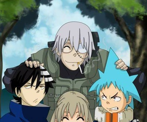 soul eater, naruto, and death the kid image