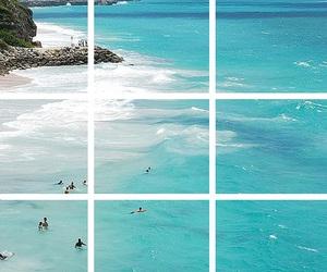 beach, sea, and landscape image