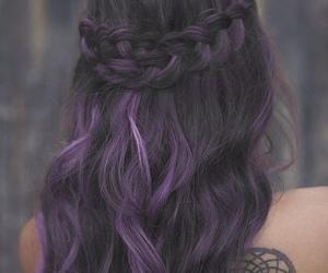hair, braid, and tattoo image