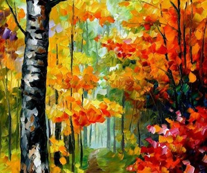 art, forest, and colors image
