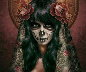 art, day of the dead, and female image