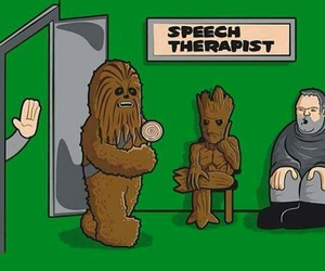 funny, star wars, and groot image