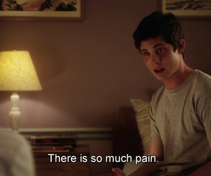 pain, logan lerman, and quotes image