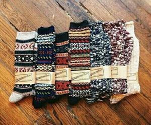 socks, autumn, and fall image