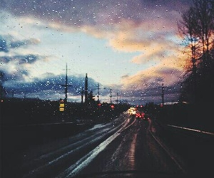 rain, sky, and road image