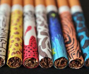 art, hair, and smoke image