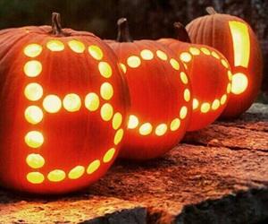 Halloween, pumpkin, and boo image