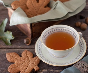 tea, autumn, and Cookies image