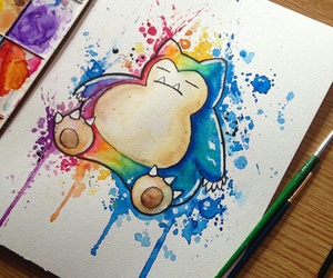art, pokemon, and snorlax image