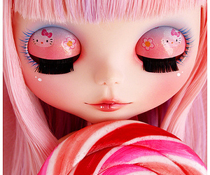 pink, doll, and blythe image