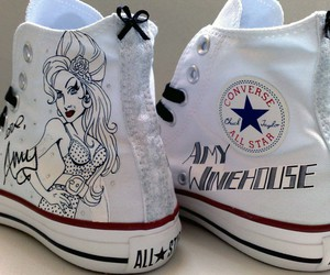 Amy Winehouse, all star, and converse image