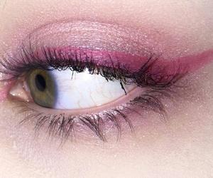 pink, eye, and eye shadow image
