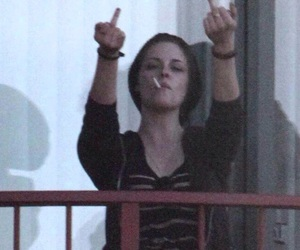 fuck, kristen stewart, and middle finger image