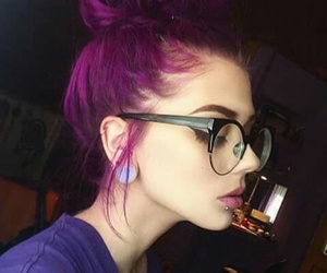 hair, purple, and piercing image