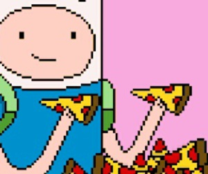 pizza, finn, and food image