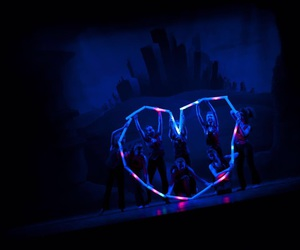 dance, heart, and led image