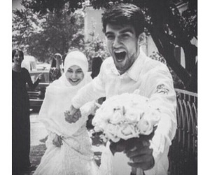 wedding, couple, and muslim image