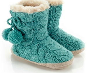cable knit, pompoms, and turquoise image