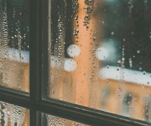 rain, window, and photography image