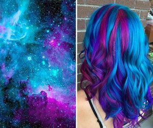 blue, fashion, and hairstyles image