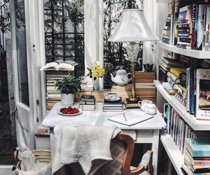 books, room, and white image