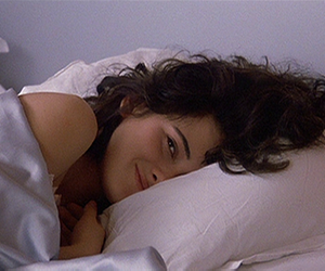 bed, girl, and sheets image