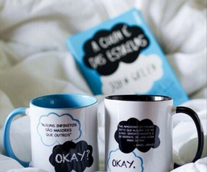 book, mug, and the fault in our stars image
