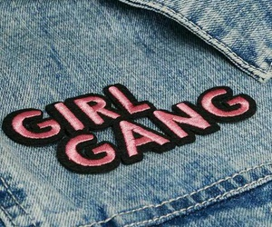 girl gang, denim, and pink image