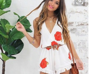 clothes, hair, and romper image