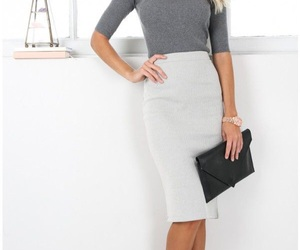 business, skirt, and clothes image