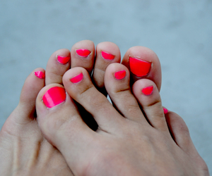 feet, nails, and neon image