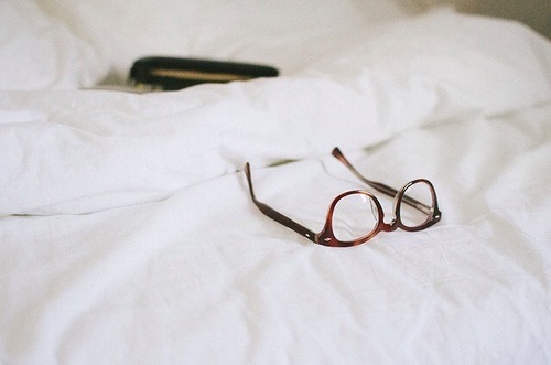 glasses, vintage, and bed image
