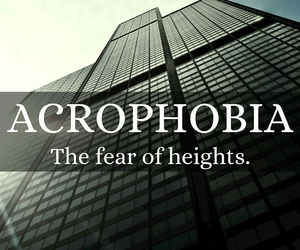 acrophobia, fear, and phobia image
