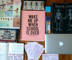 school, study, and notebook image