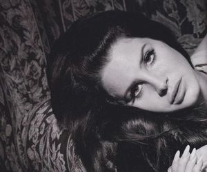 lana del rey, black and white, and music image