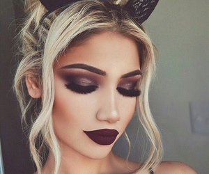 beauty, dark, and eyelashes image