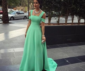 dress, style, and green image