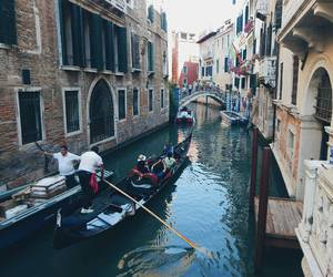 canal, gondolier, and venice image