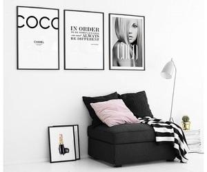black, coco chanel, and decor image