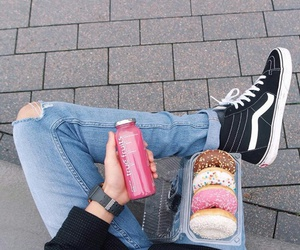 boy, fashion, and donuts image
