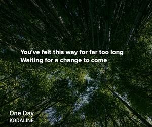 Lyrics, one day, and kodaline image