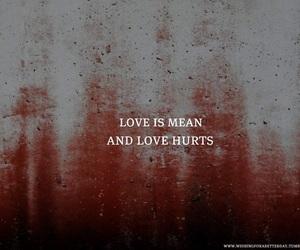 hurt, love, and pain image