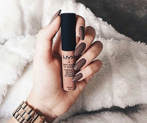 nails, makeup, and NYX image